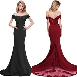 Mermaid Bridesmaid Dress/Off Shoulder
